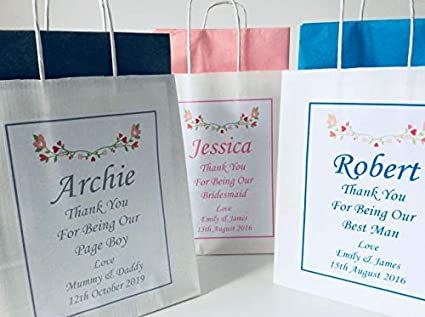 e1708f32c5f Ava Graceful Designs PERSONALISED WEDDING FAVOUR PARTY GIFT BAG with tissue  paper: Amazon.co.uk: Kitchen & Home