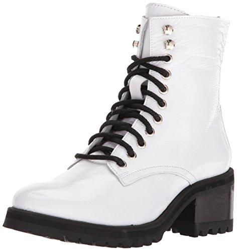 Boot Women's Patent Combat Steve White Geneva Madden qac7Wwvz