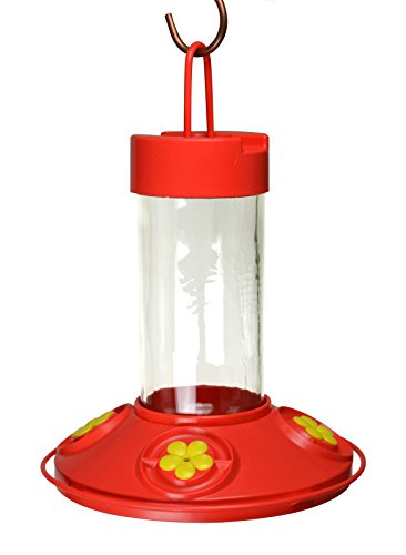 Songbird Essentials Dr JB's 16 oz Clean Feeder All Red Feeder w/ Yellow Flowers For Sale
