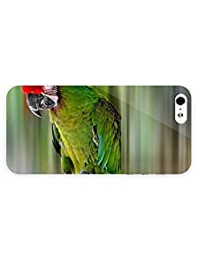3d Full Wrap Case for iPhone 5/5s Animal Green Macaw