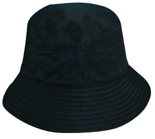 Scala Classico Women's Waterproof 3 Inch Brim Lined Rain Hat, Black, One Size