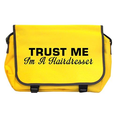 Trust Me I m A Friseur Messenger Bag–Sonnenblume gelb vQTFDVoY