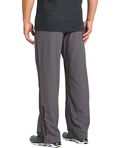 Under Armour Men's Vital Warm-Up Pants, Graphite /Black, Large by Under Armour (Image #1)