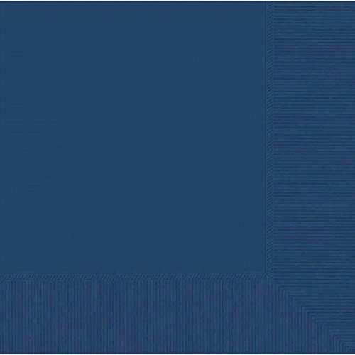2-Ply Luncheon Napkins, 50 Pieces, Made from Paper, Navy Blue by Amscan