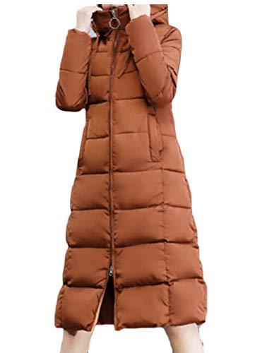 security Women Winter Down Jacket Hoodie Zip Puffer Thicken Warm Overcoat 1