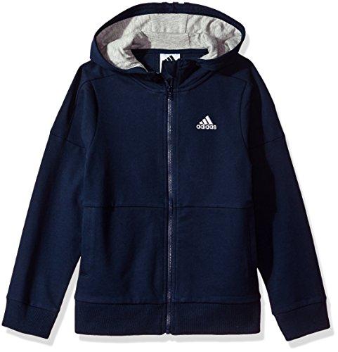 adidas Boys' Little Athletics Jacket, Collegiate Navy, 7