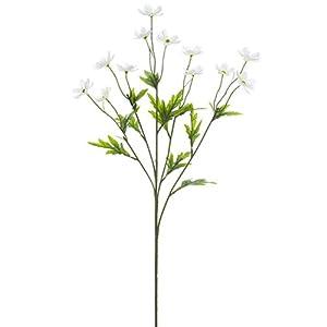 """Silk Flower Arrangements 27"""" Silk Mini Cosmos Flower Spray -White (Pack of 12)"""
