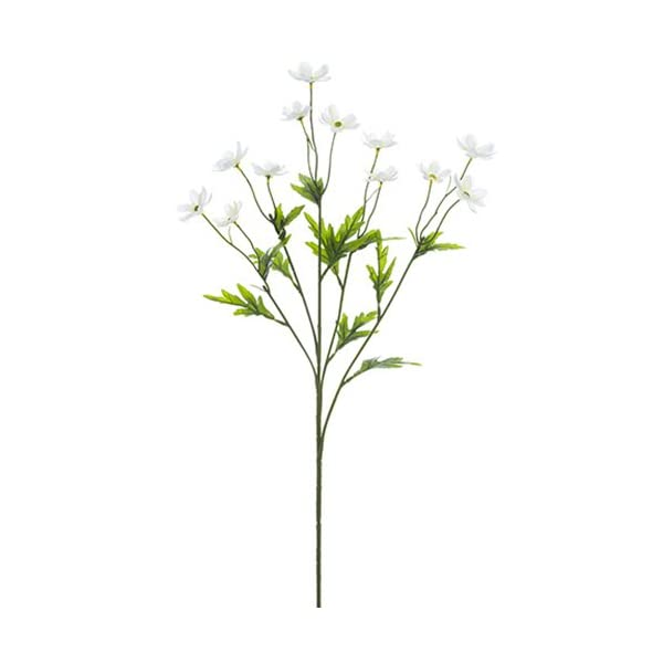 27″ Silk Mini Cosmos Flower Spray -White (Pack of 12)