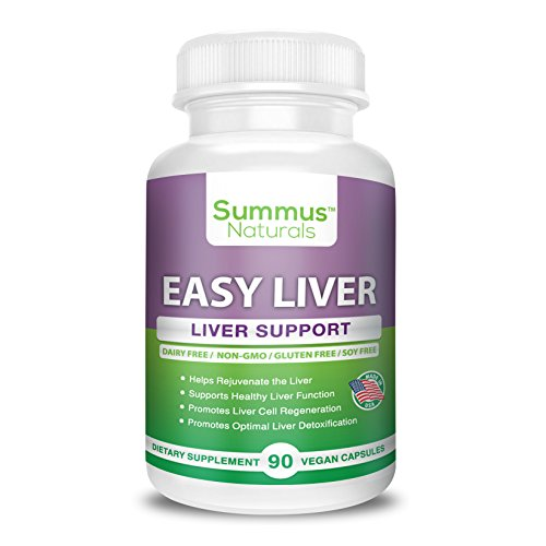 Price comparison product image Liver Supplement & Detox – Promotes Liver Function – Milk Thistle + Artichoke leaf + Choline + Enzymes – Dairy Free,  Gluten Free,  Non-GMO,  All Natural,  Made in USA
