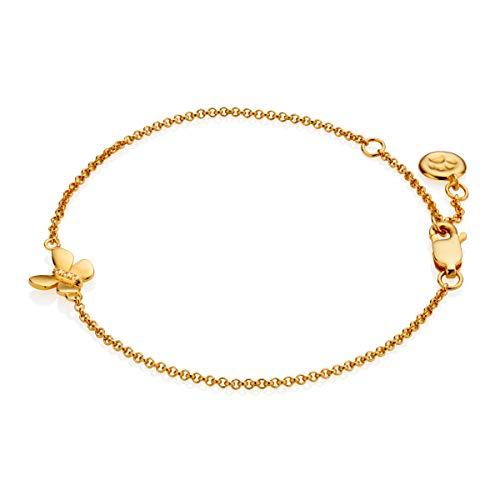 Molly B London | 18ct Gold Vermeil & White Topaz Monarch Butterfly Bracelet