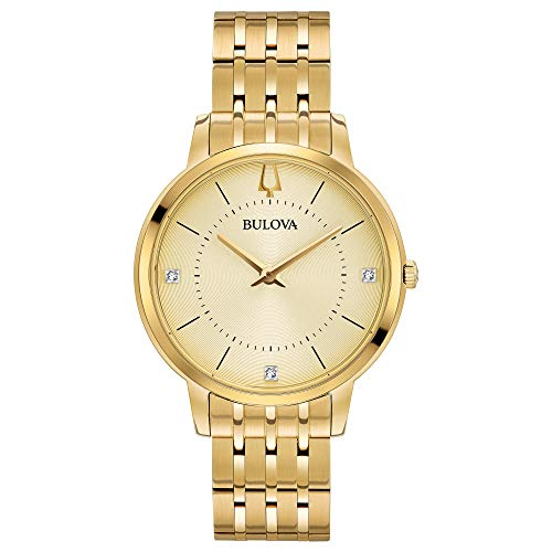 (Bulova Women's Diamonds Quartz Watch with Gold-Tone-Stainless-Steel Strap, 16 (Model: 97P123) )