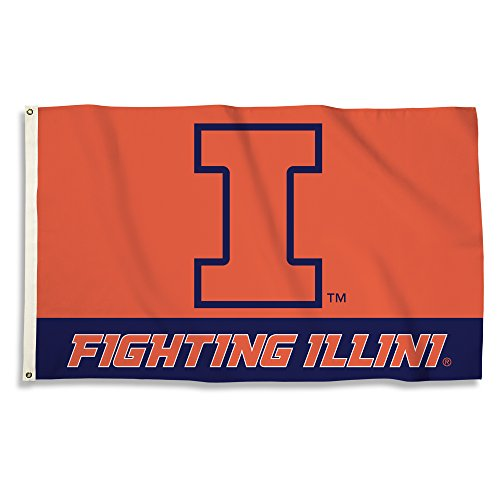 NCAA Illinois Illini 3 x 5-Feet Flag with Grommets, One Size, Team ()