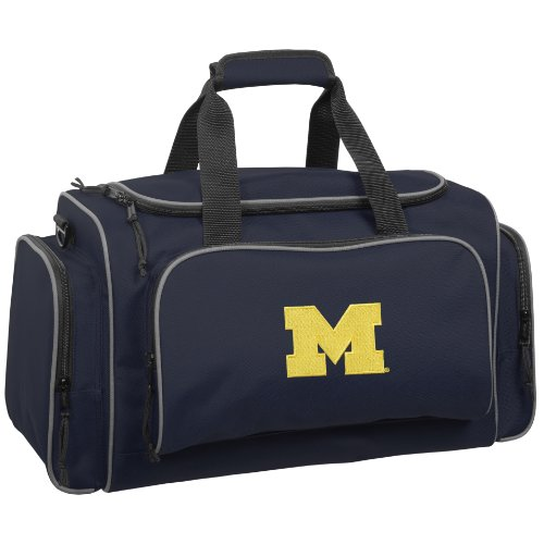 wallybags-michigan-wolverines-21-inch-collegiate-duffel-navy-one-size