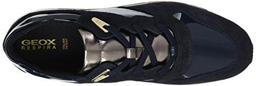 Geox D Shahira B, Scarpe da Ginnastica Basse Donna Blu (Navy)