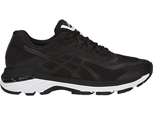 ASICS Women's GT-2000 6 Running Shoes, 8M, Black/White/Carbon