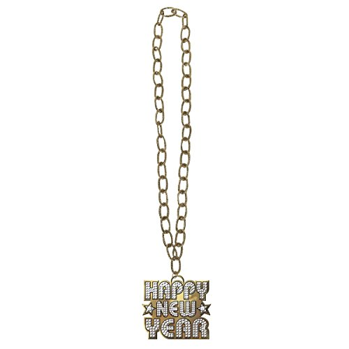 Amscan Sparkling New Year Bling Necklace Party Accessory, Gold & Silver, Plastic, 36