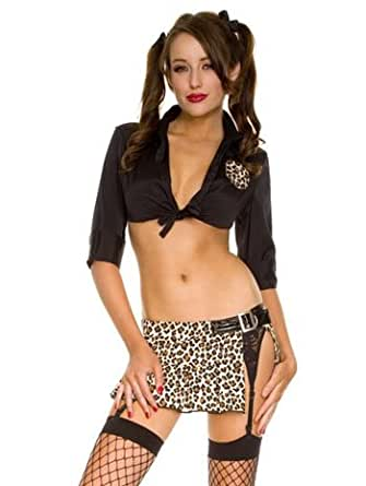 Sexy Wild Animal Safari School Girl Costume - MEDIUM/LARGE