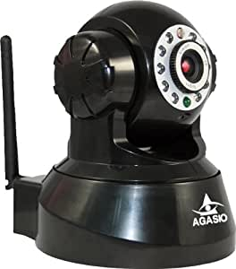 Agasio A500W BLACK Wireless IP Camera, Motion Detection, I/O Alarm Linkages, 26 foot Night Vision, 3.6mm lens, Synology & Blue Iris Compatible