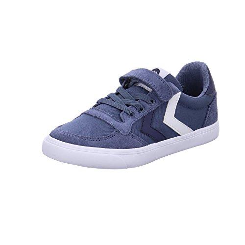 Hummel Unisex-Kinder Slimmer Stadil Low Jr Sneaker Blau (Vintage Indigo)