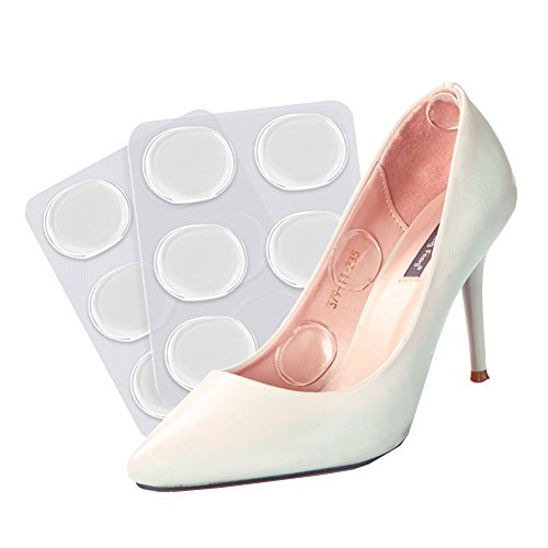 HaloVa Heel Pads Transparent Silicone High Heel Shoe Pads, Foot Care Anti-wear Cushion for Women Men, 6 Pcs