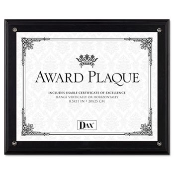 Burnes Home Accents Award Plaque, Vertical/Horizontal, 8-1/2amp;quot;X11amp;quot, (Black Award Plaque)