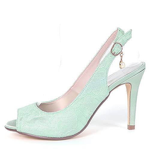Avorio Donna Tacchi Peep Satin Low Da Sposa Toe L White heels Platform Scarpe Alti yc Fibbia x0wIqqXRT