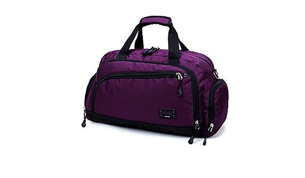 ba2f4c0b05a4 Yunqir Multi-Function Large Capacity Nylon Gym Bag Sports Holdall Travel  Weekender Duffel Bag for Man and Woman(Purple)  Amazon.ca  Sports   Outdoors