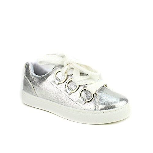 Cendriyon Sixth Shoes Sneakers Femme argentées Chaussures qFCr7qx