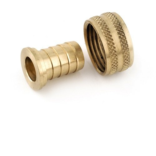 Anderson Metals Brass Garden Hose Swivel Fitting, Connector, 3/4