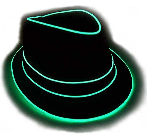GlowCity Light Up Fedora Hat SM Aqua