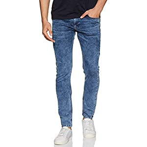 Amazon Brand – Symbol Men's Skinny Fit Stretchable Jeans (AD-SK-402_Medium Blue 1_30)