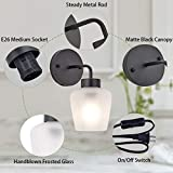 TeHenoo Plug in Wall Sconce with Frosted