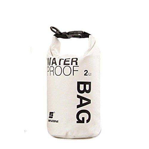 Binmer(TM) Sports Waterproof Dry Bag 2L 5L 10L Backpack Pouch for Canoe Kayak Rafting Mobile Phone Camera (White, 2L)