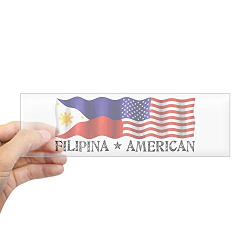 CafePress - Fil Am Flag - Bumper Sticker - 10
