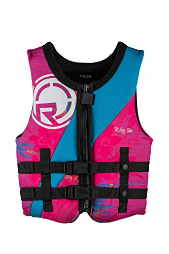 - Radar Girl's TRA Youth CGA Lifevest 50-90 pounds. Aqua Blue/Pink (2018) -50-90