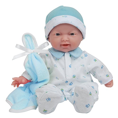 JC Toys, La Baby 11-inch Washable Soft Body Boy Baby Doll