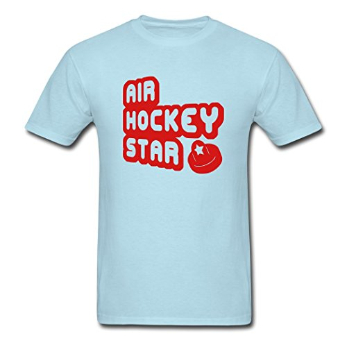 Men's Air Hockey Star For Funny T-Shirts Sky blue Large