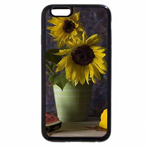 iPhone 6S / iPhone 6 Case (Black) sunny flowers
