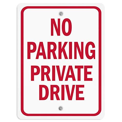 No Parking Private Drive - No Parking Private Drive Aluminum Weatherproof Metal Sign Vertical Street Signs 9INx12IN
