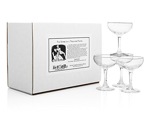 'City of Paris' 1924 Champagne Coupe (Gift Box Set of 4)