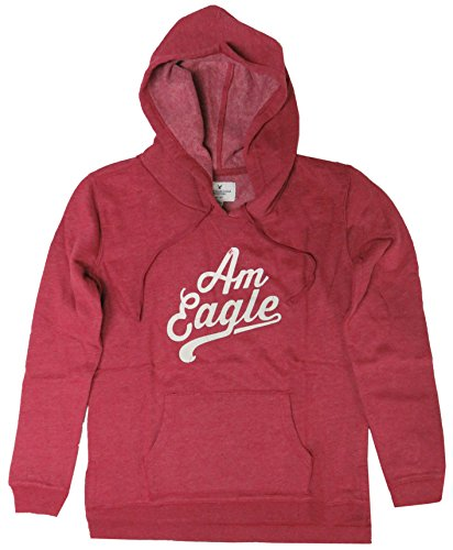 American Eagle Women's Hooded Sweat Jacket Hoodie Heather Red (Small)