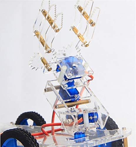 4 DOF Acryl Roboterarm Hochwertige 3D Rotierende Maschine + P0090 Servo DIY Kit Solarmodul-Panels
