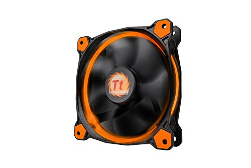 Thermaltake Ring 12 High Static Pressure 120mm Circular LED Case Radiator Cooling Fan CL-F038-PL12OR-A ()