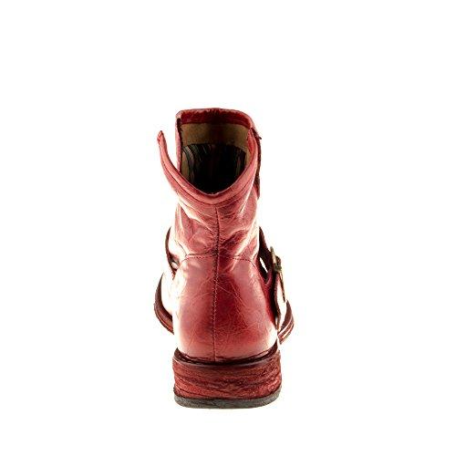 Stivali Innamorarsi Pelle Scarpe Rosso Genuina Rosso Felmini COM Classic in Gredo Donna A946 EAwgFYq
