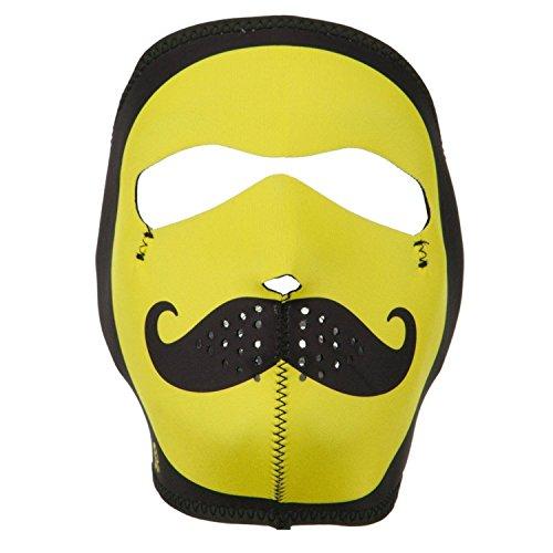 Neoprene Full Face Mask - Smiley Mustache OSFM -