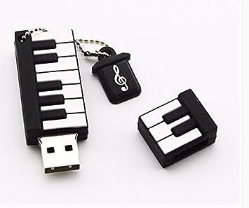 Mini teclado personalizado Note guitarra USB disco 16 G dibujo animado y presente de la música creativa disco U 16 G Official standard gray: Amazon.es: ...