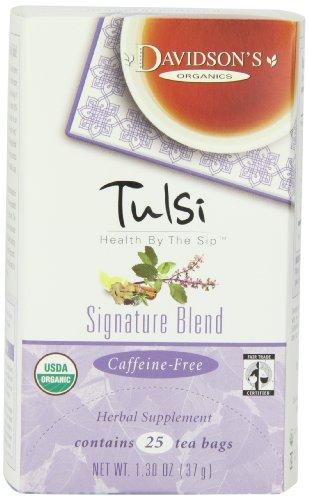 Davidson's Tea Tulsi Signature Blend, 25-Count Tea Bags (Pack Of 6)