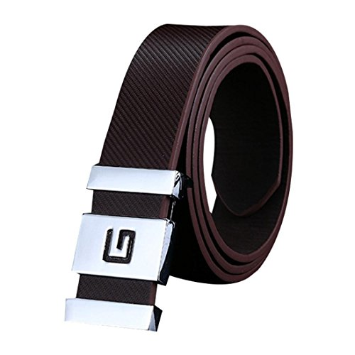 Mens Belt! Charberry Men Women Smooth Buckle Leather Belt Waist Strap Belts...