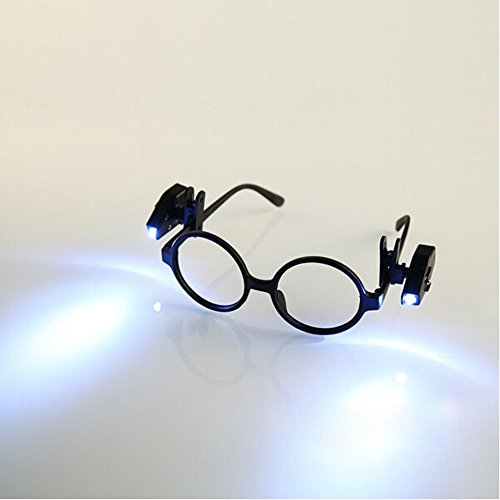 2PCS Universal Flexible LED Clip On Mini Book Reading Light Adjustable LED Night Lamp For Safety EyeGlasses camping Reader (glasses NOT included)