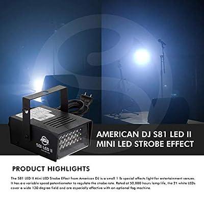 American Dj S81 Variable Speed Led Powered Led Mini Strobe Effect Set by American DJ